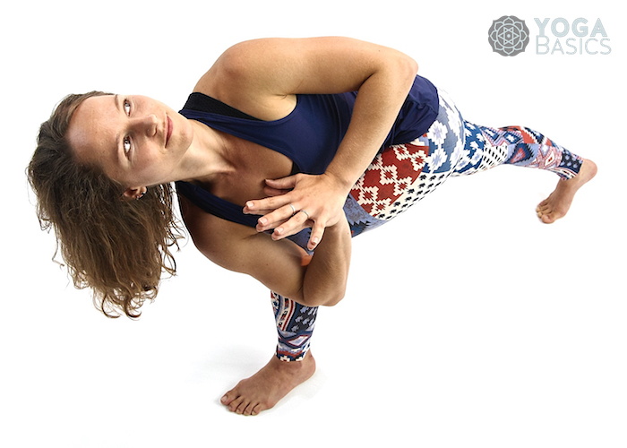 Prayer Twist Pose / namaskar parsvakonasana
