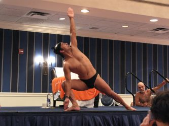 Bikram Choudhury teaching yoga