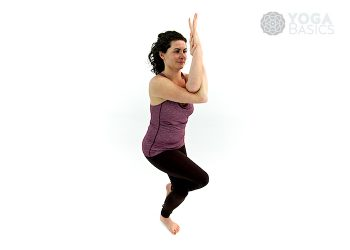 Eagle yoga pose • Garudasana