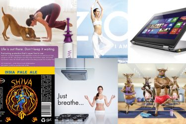 yoga in advertisments