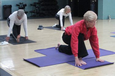 yoga class for seniors